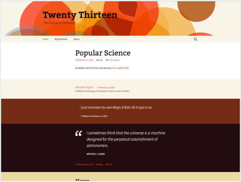 Twenty Thirteen wordpress